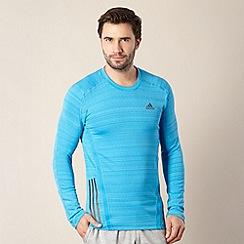 adidas - Blue long sleeved logo stripe top
