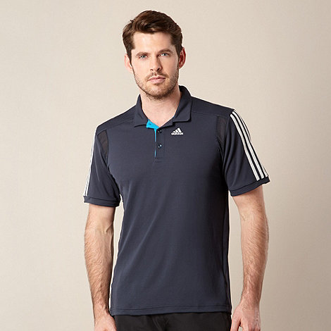 adidas - Grey +ClimaCool+ polo shirt