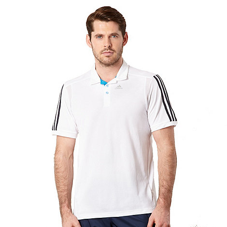 adidas - White +ClimaCool+ polo shirt