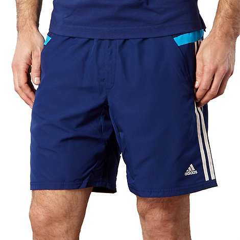 adidas - Blue striped +ClimaCool+ gym shorts