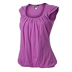 Roxy - Purple 'No Kisses' drappy t-shirt