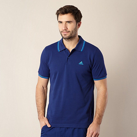 adidas - Navy pique plain polo shirt