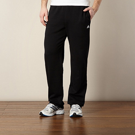 adidas - Black plain jogging bottoms