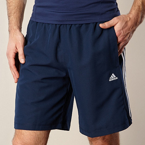 adidas - Navy logo stripe leisure shorts