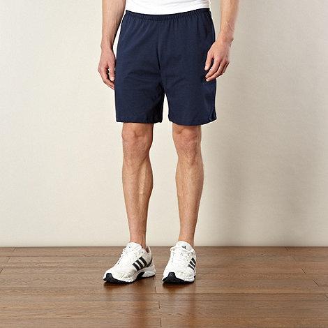 adidas - Navy jersey shorts