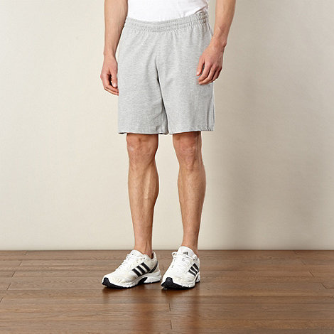 adidas - Grey elasticated waist jersey shorts