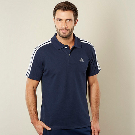adidas - Navy logo polo top