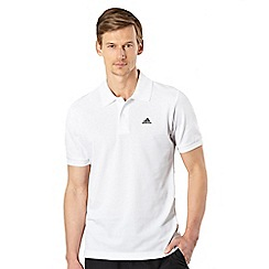 adidas - White pique performance polo shirt