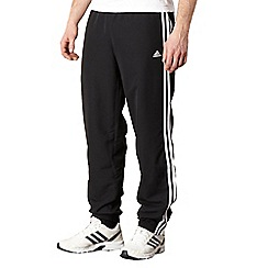 adidas - Black woven jogging bottoms