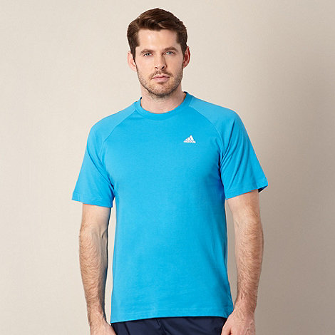adidas - Blue plain logo t-shirt