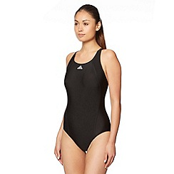 adidas - Black plain performance swimsuit