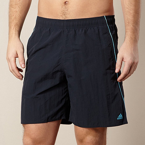 adidas - Blue mesh lined swim shorts