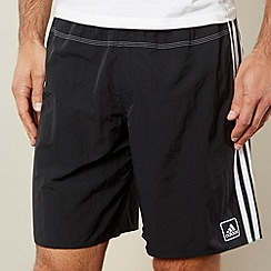 adidas - Black mesh lined swim shorts
