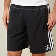 Black mesh lined swim shorts