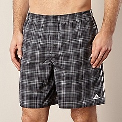 adidas - Dark grey checked elasticated shorts