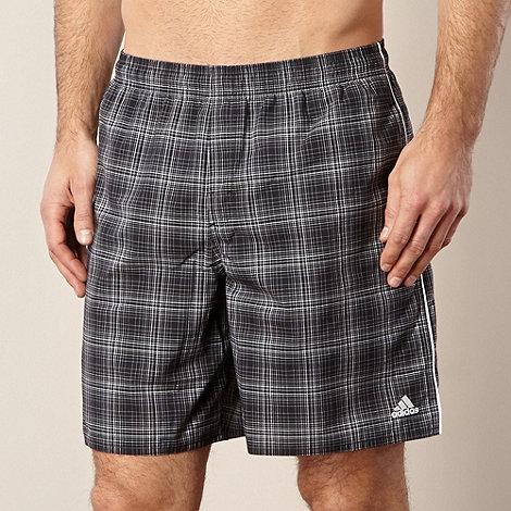 adidas - Dark grey checked elasticated shorts