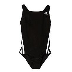 adidas - Girl's black striped swimsuit