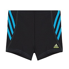 adidas - Boy's black side striped swim shorts