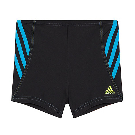 adidas - Boy+s black side striped swim shorts