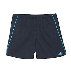 adidas - Boy's navy piped swim shorts