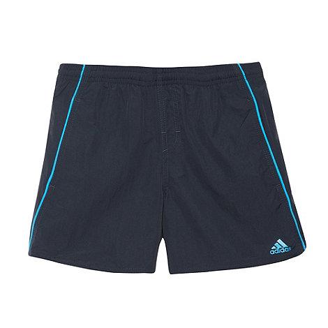 adidas - Boy+s navy piped swim shorts