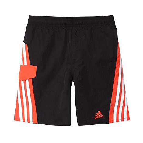 adidas - Boy+s black striped logo shorts