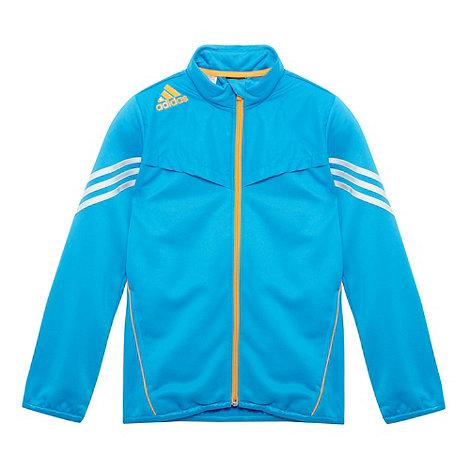 adidas - Boy+s blue logo stripe zip jacket