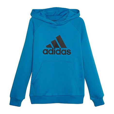 adidas - Boy+s blue logo hoodie