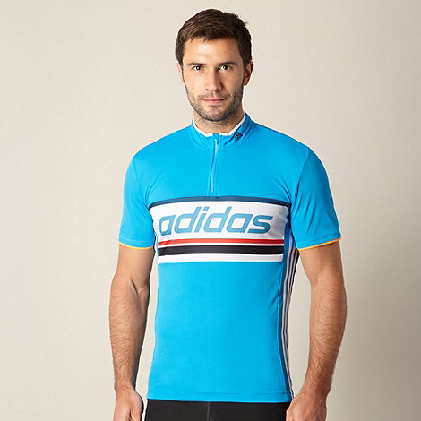 adidas - Blue mesh cycling t-shirt