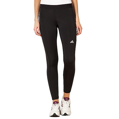 adidas - Black long tight fitness trousers