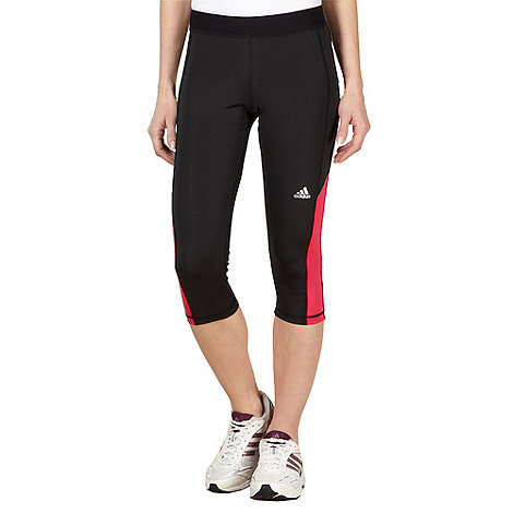 adidas - Black cropped tight capri pants
