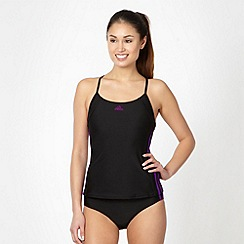 adidas - Black striped tankini set