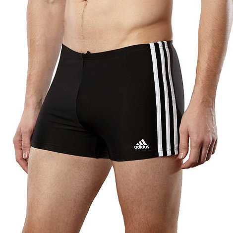 adidas - Black side striped water shorts