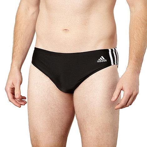 adidas - Black three stripe trunks