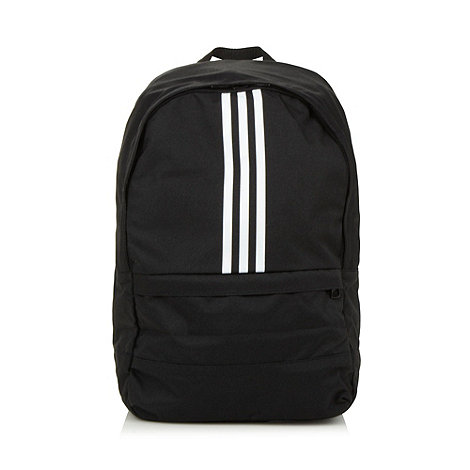 adidas - Black canvas logo backpack