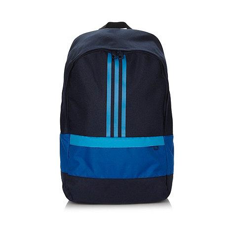 adidas - Blue three stripe backpack