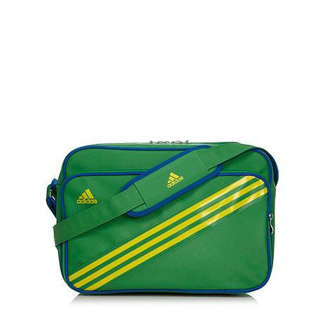 adidas - Green three stripe messenger bag