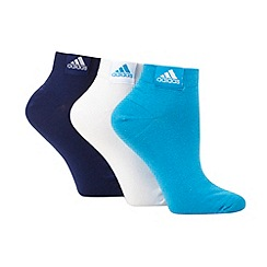 adidas - Pack of three blue ankle socks
