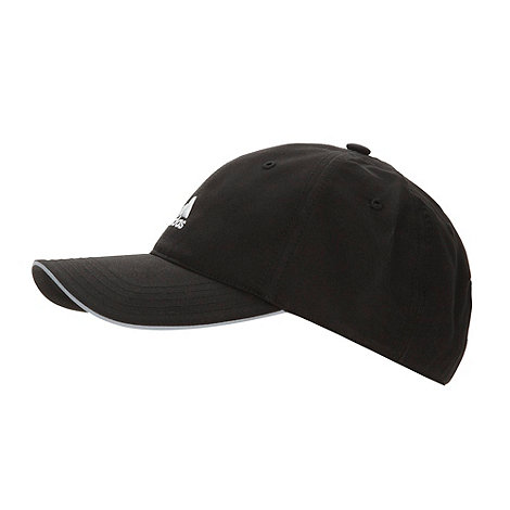 adidas - Black sun protection embroidered logo cap