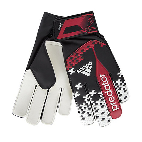 adidas - Children+s dark pink graphic football gloves