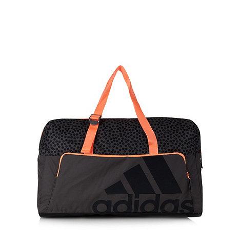 adidas - Grey contrast logo spotted gym bag