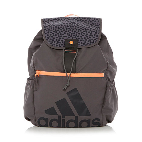 adidas - Grey spotted flapover backpack
