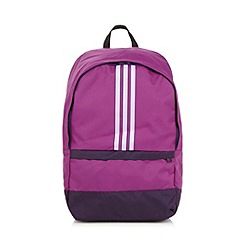 adidas - Purple canvas logo backpack