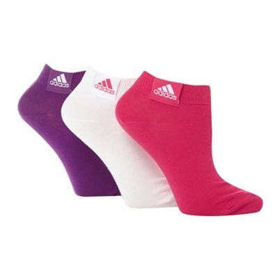Pack of three pink ankle socks