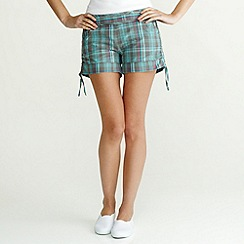 Roxy - Turquoise 'The Crush' check shorts