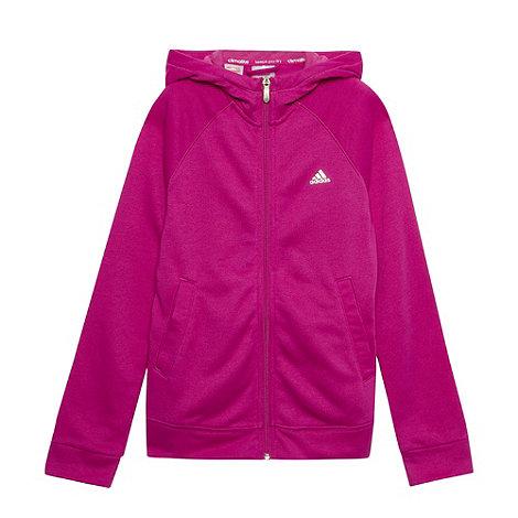 adidas - Girl+s pink logo hoodie