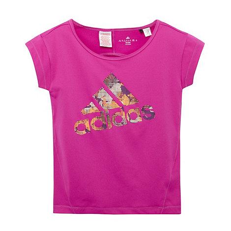 adidas - Girl+s purple logo print t-shirt and headband