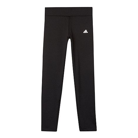 adidas - Black full length tight gym trousers