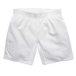 Umbro - White kids home England football shorts
