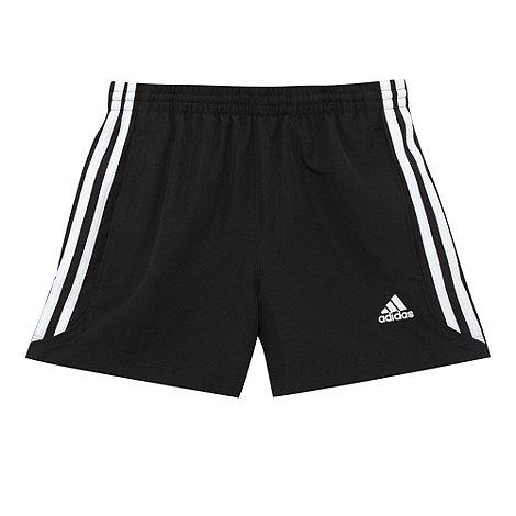 adidas - Boy+s black logo striped shorts
